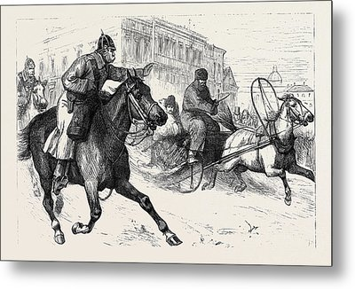 The Crisis In Russia Police Espionage In St Metal Print by English School