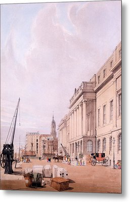 The Custom House, From London Metal Print by Thomas Shotter Boys