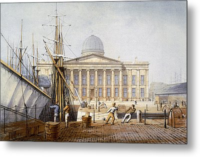 The Customs House And Revenue Building Metal Print by William Gavin Herdman