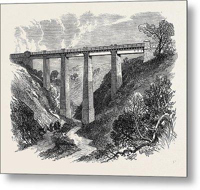 The Daff Viaduct Of The Greenock And Wemyss Bay Railway 1866 Metal Print by English School