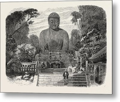 The Daiboutz, A Bronze Colossal Statue On The Site Metal Print by Japanese School