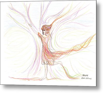 Metal Print featuring the drawing The Dancer by Lula Adams