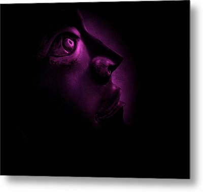 The Darkest Hour - Magenta Metal Print by David Dehner