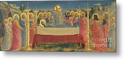 The Death Of The Virgin Metal Print by Fra Angelico