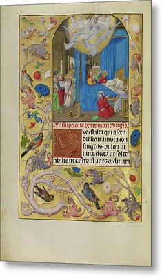 The Death Of The Virgin Master Of The Lübeck Bible Bruges Metal Print