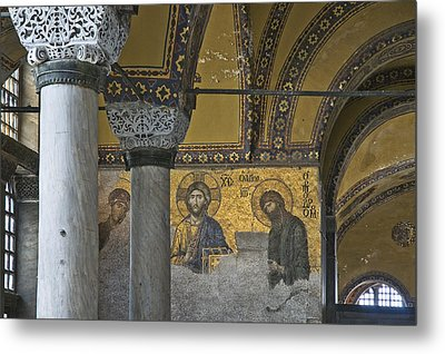 The Deesis Mosaic At Hagia Sophia Metal Print by Ayhan Altun