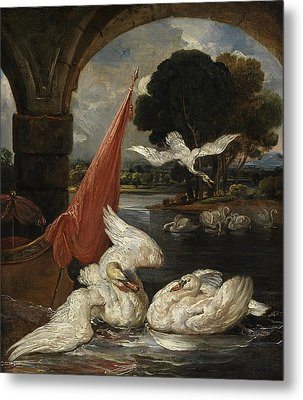 The Descent Of The Swan, Illustration Metal Print by James Ward