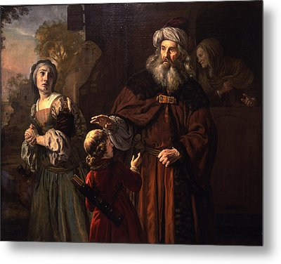 The Dismissal Of Hagar, 1650 Metal Print by Jan Victors