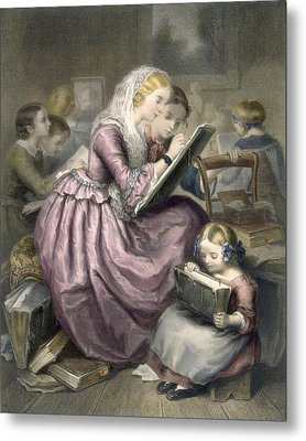 The Drawing School, C.1835 Metal Print by French School
