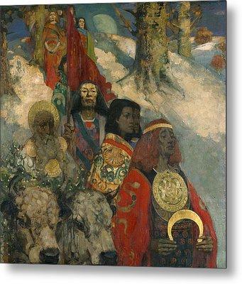 The Druids - Bringing In The Mistletoe Metal Print