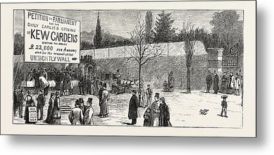 The Earlier Opening Of Kew Gardens  Scene On Easter Monday Metal Print by English School