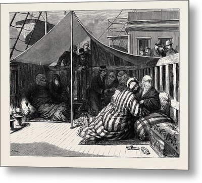 The Eastern Question Taking Tickets In The Harem Metal Print by English School