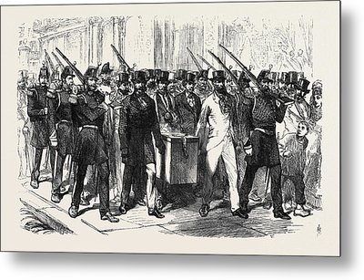 The Elections In France Removal Of The Voting-urn Metal Print by French School