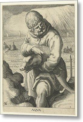 The Element Of Water, Jacob De Gheyn II Metal Print by Jacob De Gheyn (ii)