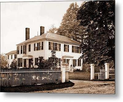 The Emerson House, Concord, Emerson House Concord Metal Print