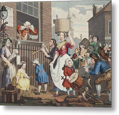 The Enraged Musician, Illustration Metal Print by William Hogarth