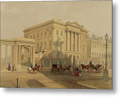 The Exterior Of Apsley House, 1853 Metal Print by English School