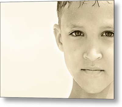The Eye Of A Child Metal Print by Charles Beeler