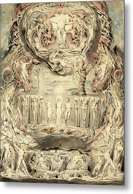 The Fall Of Man Metal Print by William Blake