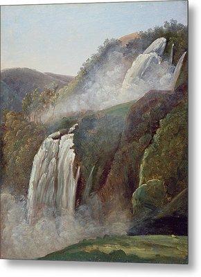 The Falls At Terni Metal Print by George Augustus Wallis