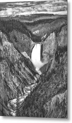 The Falls Power Metal Print by Jon Glaser