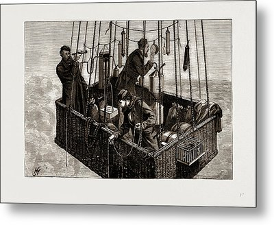 The Fatal Balloon Accident In France, Car Of The Zenith Metal Print by Litz Collection