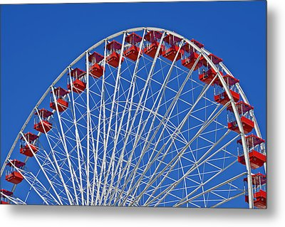 The Ferris Wheel Chicago Metal Print by Christine Till