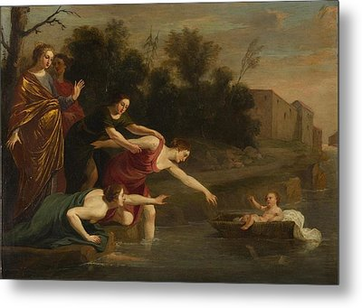 Metal Print featuring the painting The Finding Of Moses   by Jacques Stella