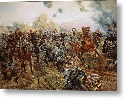 The First Vc Of The European War, 1914 Metal Print
