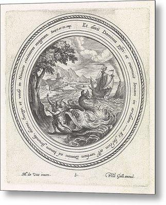 The Fish Spit Jonah Out On The Land, Crispijn Van De Passe Metal Print by Quint Lox