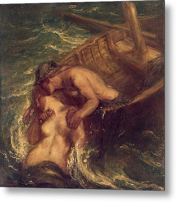 The Fisherman And The Mermaid, 1901-03 Metal Print by Charles Haslewood Shannon
