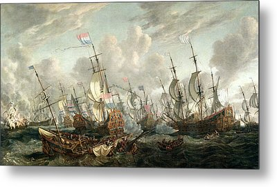 The Four Days Battle, June 1666 Metal Print by Abraham Storck