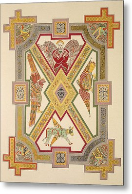 The Four Evangelists, From A Facsimile Metal Print by Irish School