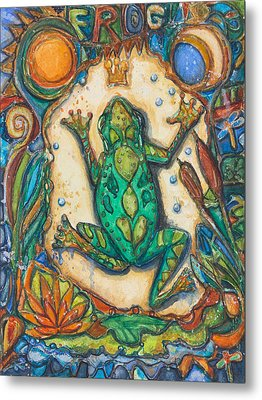The Frog Prince   Children Of The Earth Series Metal Print by Patricia Allingham Carlson