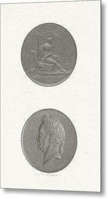 The Front And Back Of A Coin To Commemorate The 25th Metal Print by Jan Dam Steuerwald