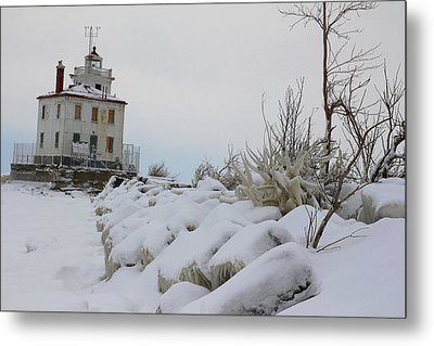 The Frozen Sentinel Metal Print by Frederic Vigne