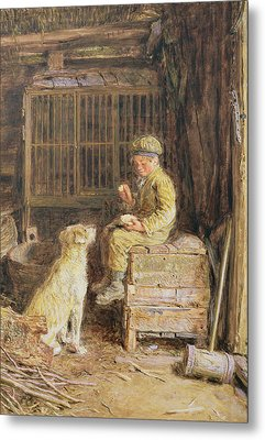 The Frugal Meal Metal Print by William Henry Hunt