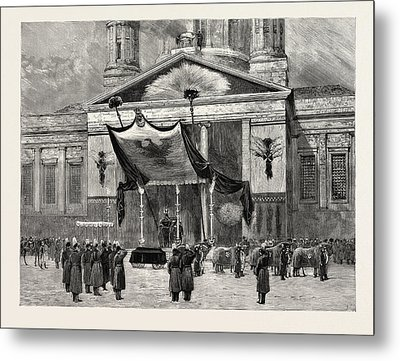 The Funeral Of The Late Emperor William At Berlin Metal Print
