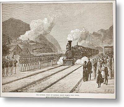 The Funeral Train Of General Grant Metal Print