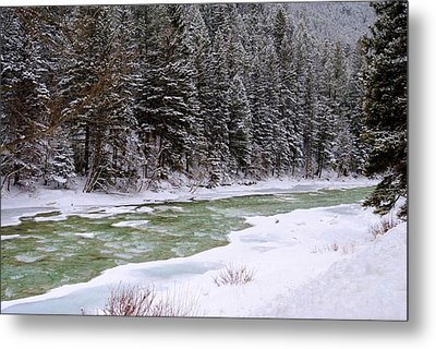 The Gallatin Showing Her Colors II Metal Print by Meagan Suedkamp