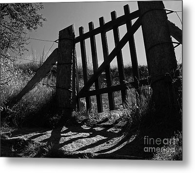 Metal Print featuring the photograph The Gate by Inge Riis McDonald