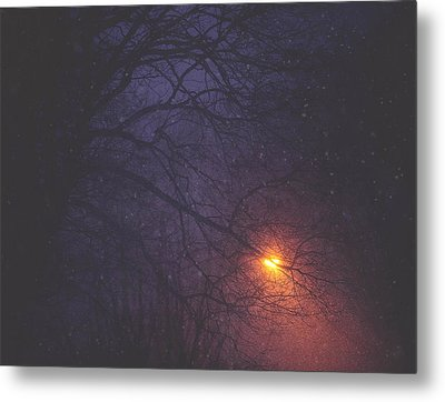 The Glow Of Snow Metal Print