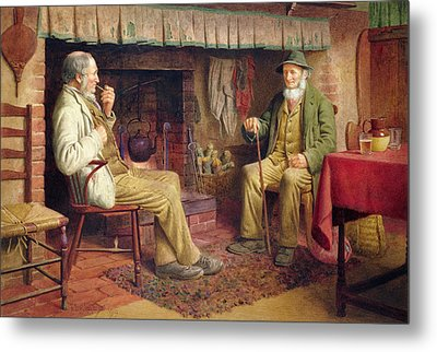 The Gossip Metal Print by Henry Spernon Tozer