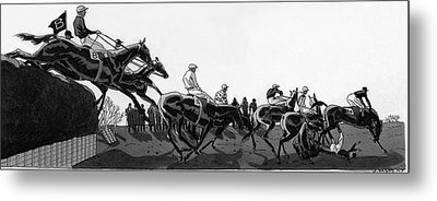 The Grand National At Aintree Metal Print