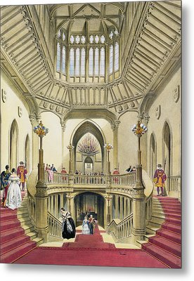 The Grand Staircase, Windsor Castle Metal Print by English School
