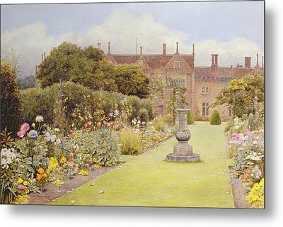 The Grass Walk, Helmingham Hall, 1892 Metal Print by Henry Terry