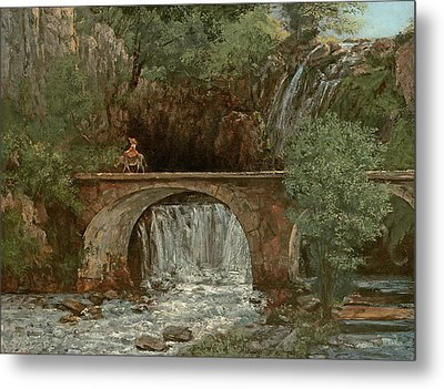 The Great Bridge, 1864 Metal Print by Gustave Courbet
