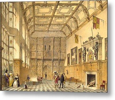 The Great Hall, Hatfield, Berkshire Metal Print by Joseph Nash