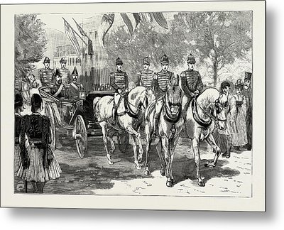 The Greek Royal Wedding, Arrival Of The Royal Party Metal Print