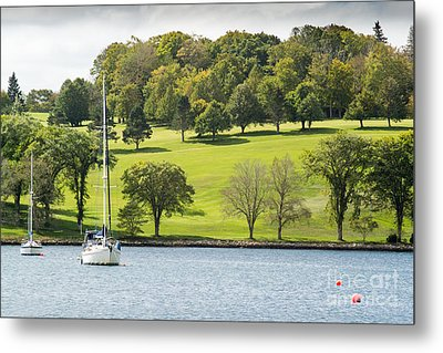 The Green Hills Of Lunenburg Metal Print